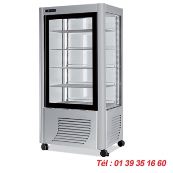 VITRINE REFRIGEREE 4 FACES VITREES  VV5 MODELE LARGE VV5/L