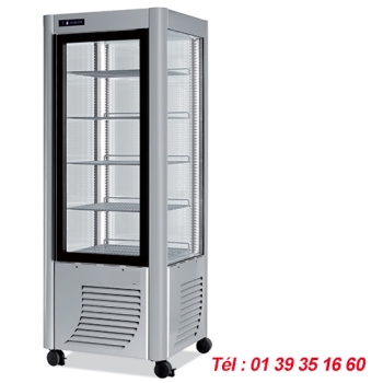 VITRINE REFRIGEREE PLATEAUX TOURNANTS 4 FACES VITREES VV5