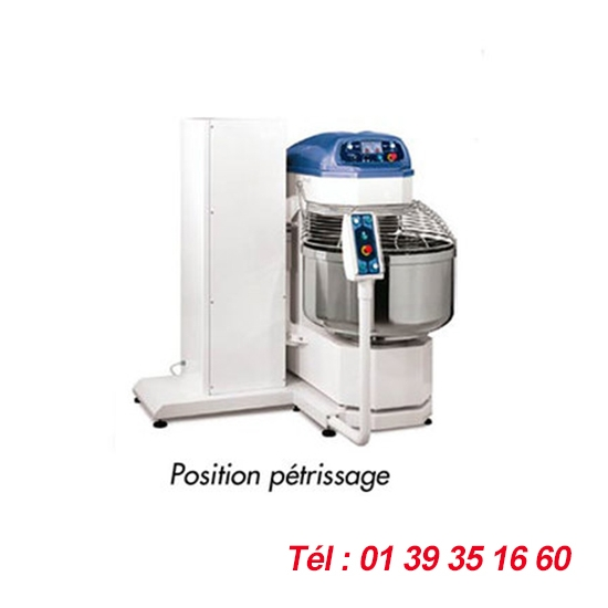PETRIN SPIRALE BASCULANT CAPACITE PATE 160 KGS