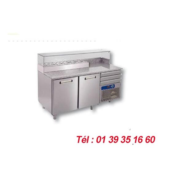 TABLE 2 PORTES STRUCTURE INCORPOREE 6X GN1/4 Haut. 150 mm