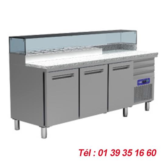 TABLE 3 PORTES STRUCTURE INCORPOREE 8X GN1/4 Haut. 150 mm