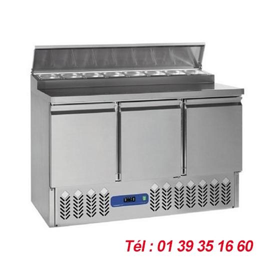 TABLE DE PREPARATION +2/+8°C STRUCTURE 8XGN 1/6 Haut. 150 mm