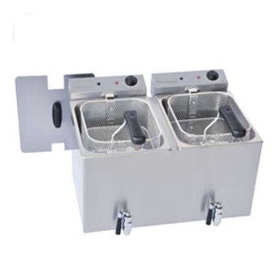 """FRITEUSE DE TABLE - ELECTRIQUE - 2X8 litres - Avec robinet de vidange - """"Tel  01 39 35 16 60"""""""